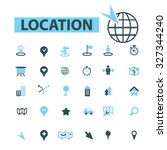 location icons | Shutterstock .eps vector #327344240