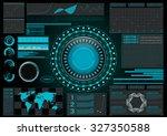 sci fi futuristic user... | Shutterstock .eps vector #327350588