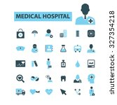 medical hospital icons | Shutterstock .eps vector #327354218