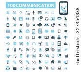 100 communication icons | Shutterstock .eps vector #327354338