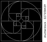 golden ratio pattern | Shutterstock .eps vector #327358439