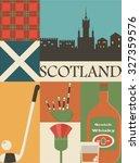 Scotland Background Icon Set