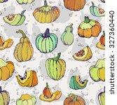 cartoon sketch autumn pumpkin   ... | Shutterstock .eps vector #327360440