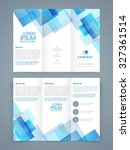 abstract professional trifold... | Shutterstock .eps vector #327361514