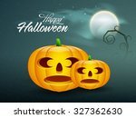 happy halloween party... | Shutterstock .eps vector #327362630