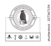 vector set of nautical icons... | Shutterstock .eps vector #327367154
