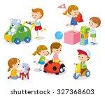 cute children in the... | Shutterstock .eps vector #327368603