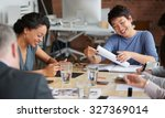 ambitious business people... | Shutterstock . vector #327369014