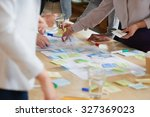 brainstorming session with post ... | Shutterstock . vector #327369023