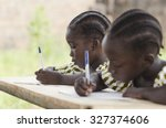 african children at school... | Shutterstock . vector #327374606