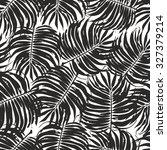 palm leaves tropic seamless... | Shutterstock .eps vector #327379214
