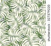 palm leaves tropic seamless... | Shutterstock .eps vector #327379220