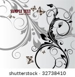 beautiful floral background | Shutterstock .eps vector #32738410