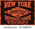 new york sports t shirt design   Shutterstock .eps vector #327388949