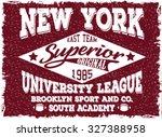 new york sports t shirt design | Shutterstock .eps vector #327388958