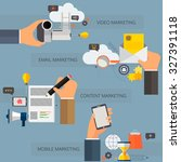 set of flat design concept... | Shutterstock .eps vector #327391118