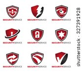 Security Logo   9 Style Red An...