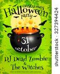 bright green vector halloween... | Shutterstock .eps vector #327394424