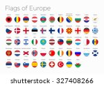 circle flags of the world.... | Shutterstock .eps vector #327408266