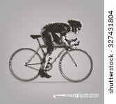 cycling race. vector artwork in ... | Shutterstock .eps vector #327431804