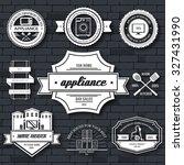 appliances label template of... | Shutterstock .eps vector #327431990