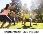 fitness  sport  friendship and... | Shutterstock . vector #327441380