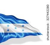 honduras flag of silk with... | Shutterstock . vector #327442280