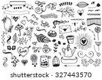 set of vintage sketch elements. ... | Shutterstock .eps vector #327443570