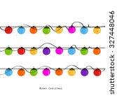christmas light bulbs happy new ... | Shutterstock .eps vector #327448046