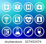 health care and medicine on... | Shutterstock .eps vector #327452474