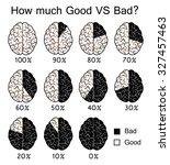 good vs bad  evil concept ...   Shutterstock .eps vector #327457463