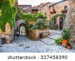 beautiful view of idyllic alley ... | Shutterstock . vector #327458390