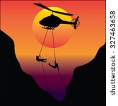 soldiers rescue team dropping... | Shutterstock .eps vector #327463658