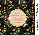vector retro background with... | Shutterstock .eps vector #327464324