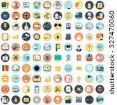 flat style  colorful  vector... | Shutterstock .eps vector #327470060