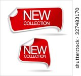 new collection sticker | Shutterstock .eps vector #327483170