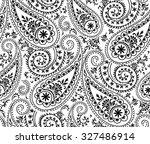 seamless paisley pattern   Shutterstock .eps vector #327486914