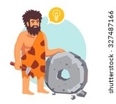 stone age primitive man had an... | Shutterstock .eps vector #327487166