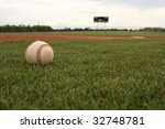 baseball on the field with... | Shutterstock . vector #32748781