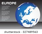 europe globe. earth globe... | Shutterstock .eps vector #327489563