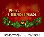 beautiful merry christmas... | Shutterstock . vector #327493040