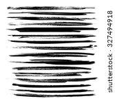 black textured long dry paint... | Shutterstock .eps vector #327494918