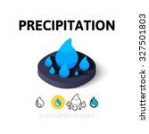 precipitation icon  vector...