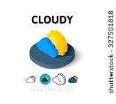cloudy icon  vector symbol in...
