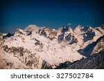 winter mountains panorama with... | Shutterstock . vector #327502784