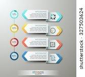 modern infographics options... | Shutterstock .eps vector #327503624