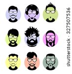 set avatars profile pictures... | Shutterstock .eps vector #327507536