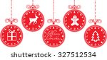 christmas baubles with... | Shutterstock .eps vector #327512534
