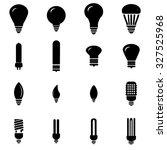 light bulbs icons set... | Shutterstock .eps vector #327525968