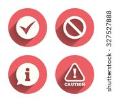 information icons. stop... | Shutterstock .eps vector #327527888